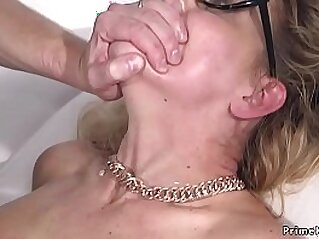 Milf in bondage anal fucked and cummed