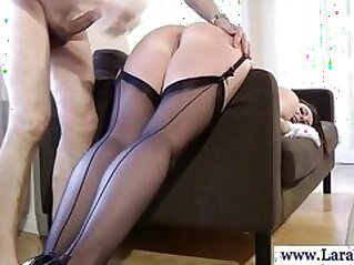 Mature stockings milf fucked hard from behind